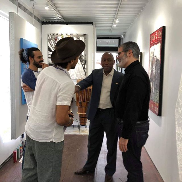 Orixás event last Saturday. Thanks to our great friend and supporter Mayor @sylvesterturner ,council member Karla Cisneros and all the friend and family who came to supported our MASA project. Stay toned @fifthwardcrc for more great things coming!!! #masahouston #tonyparana #capoeira #batala #poetry #grafittiart #music