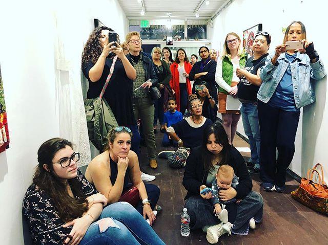 O público apareceu. #masahouston #ibraimnascimento #tonyparana #containergalery @latinoartnow