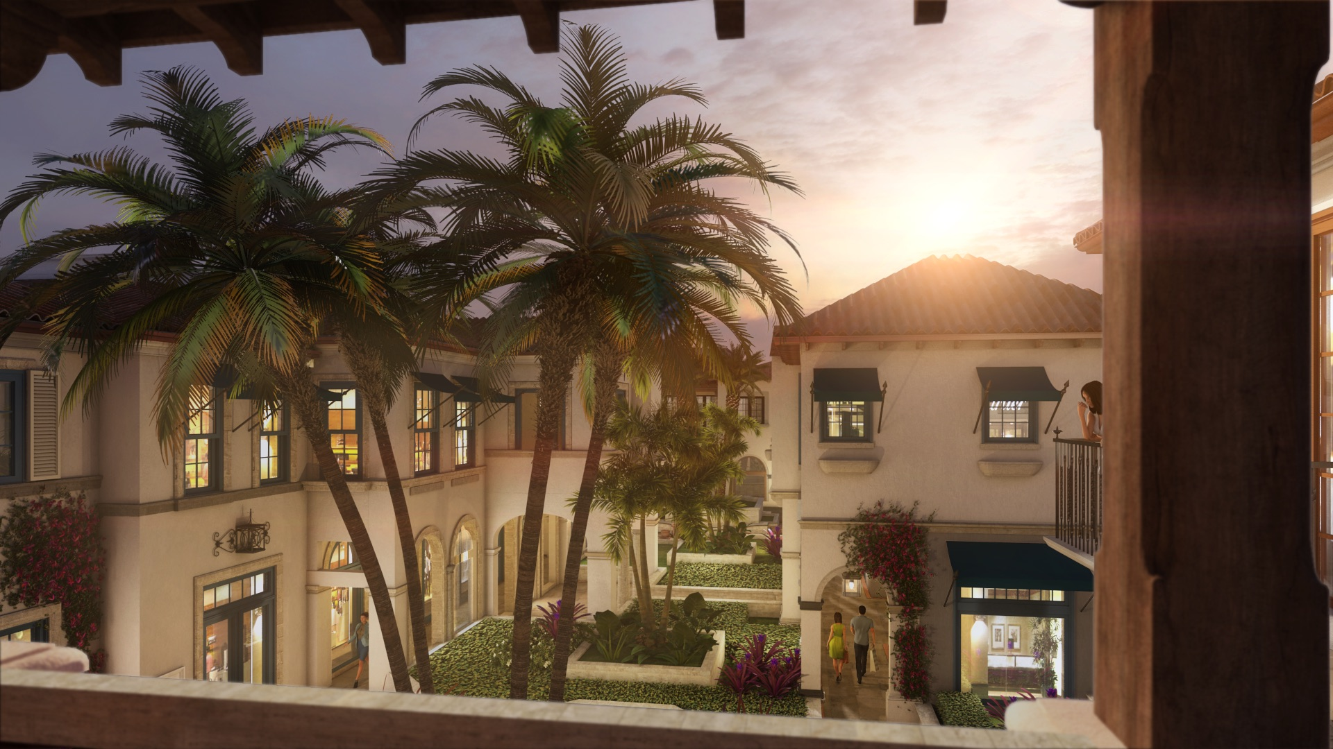 Royal Poinciana Palm Beach Courtyard
