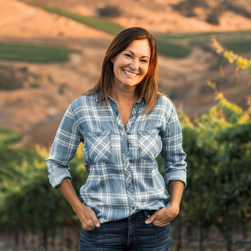 Dana Volk, Owner and Winemaker of Dana V. Wines