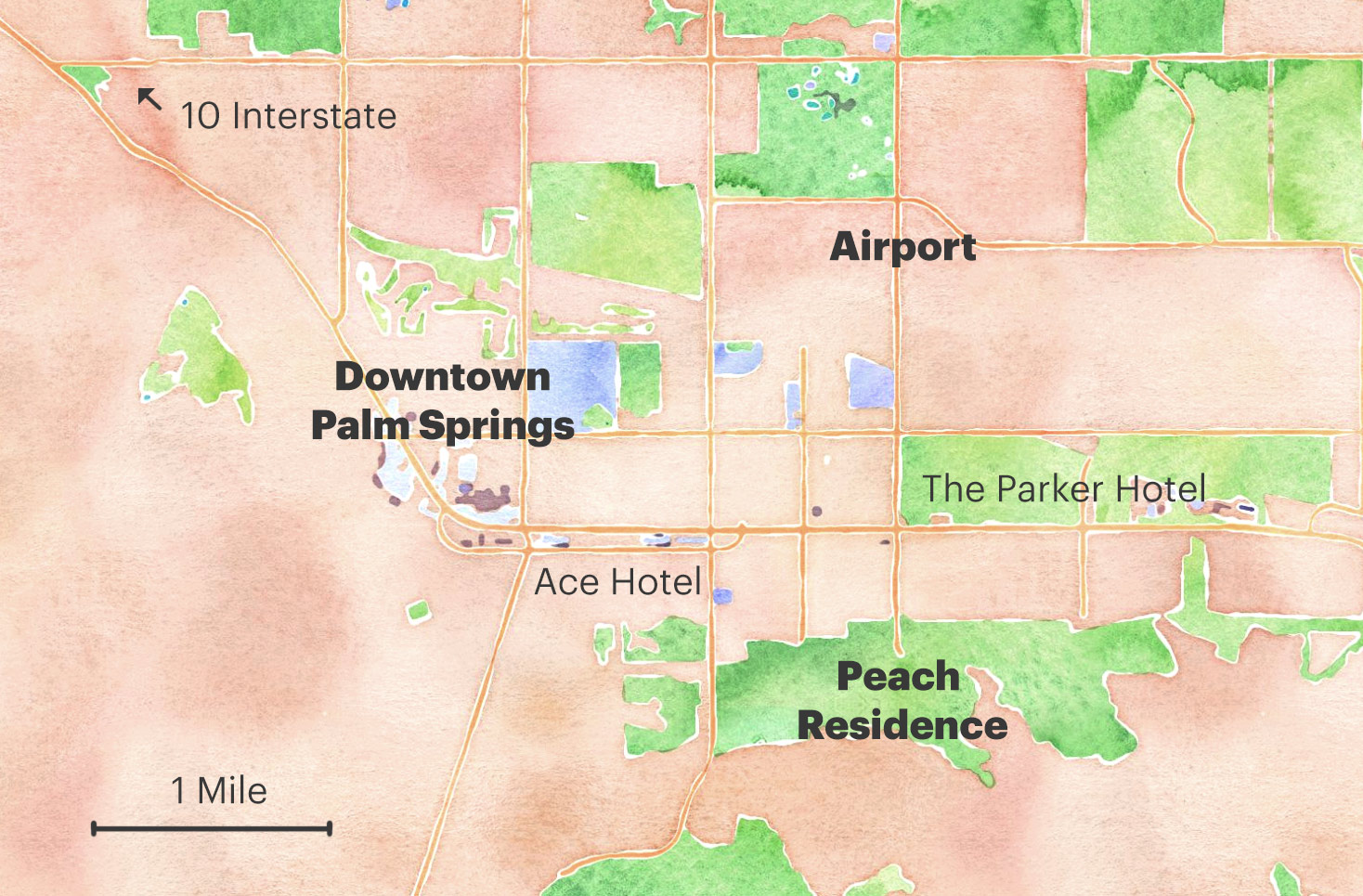 The Peach Residence in Palm Springs