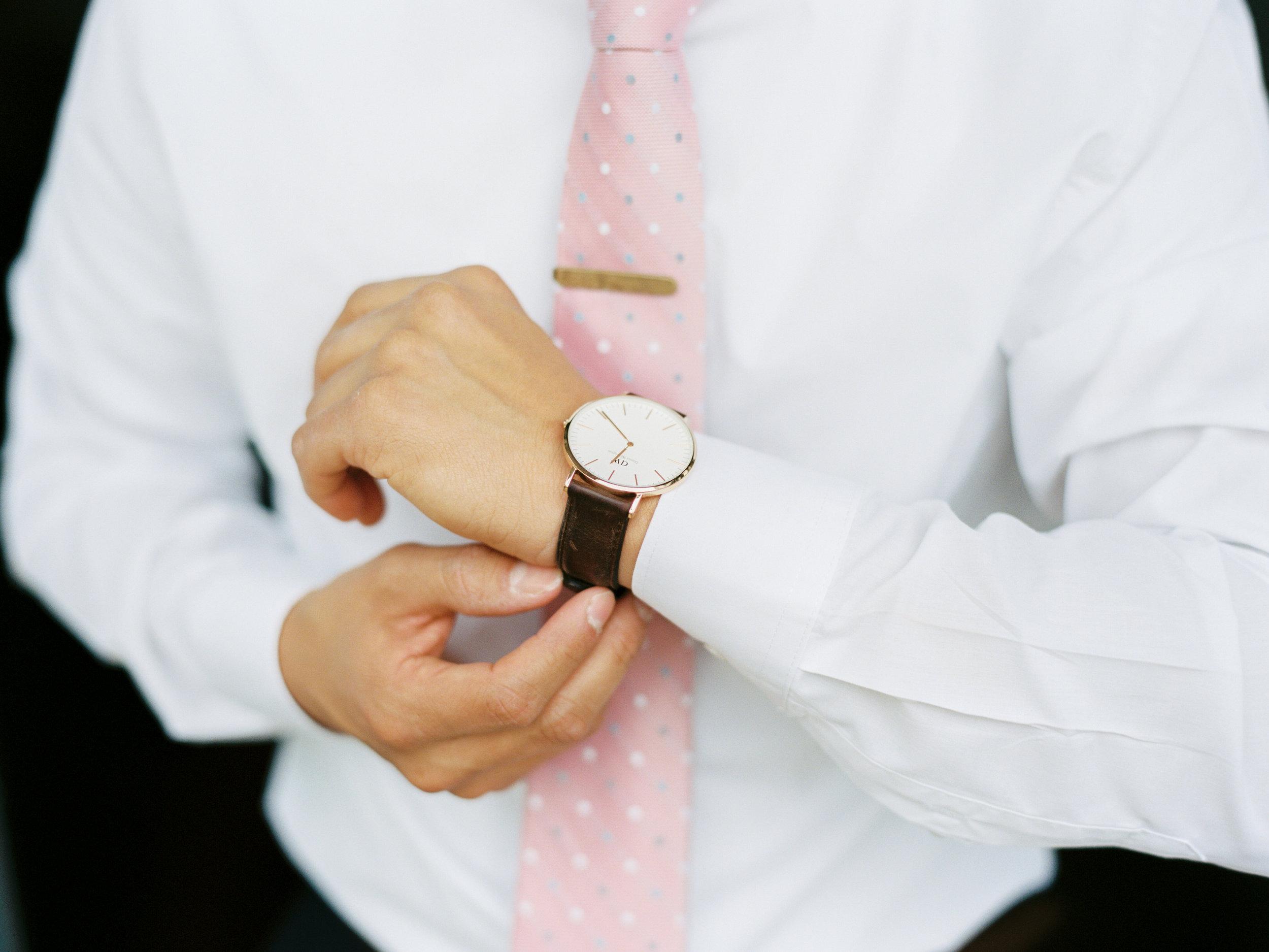 Shirt: H&M Watch: Daniel Wellington Tie: Ben Sherman