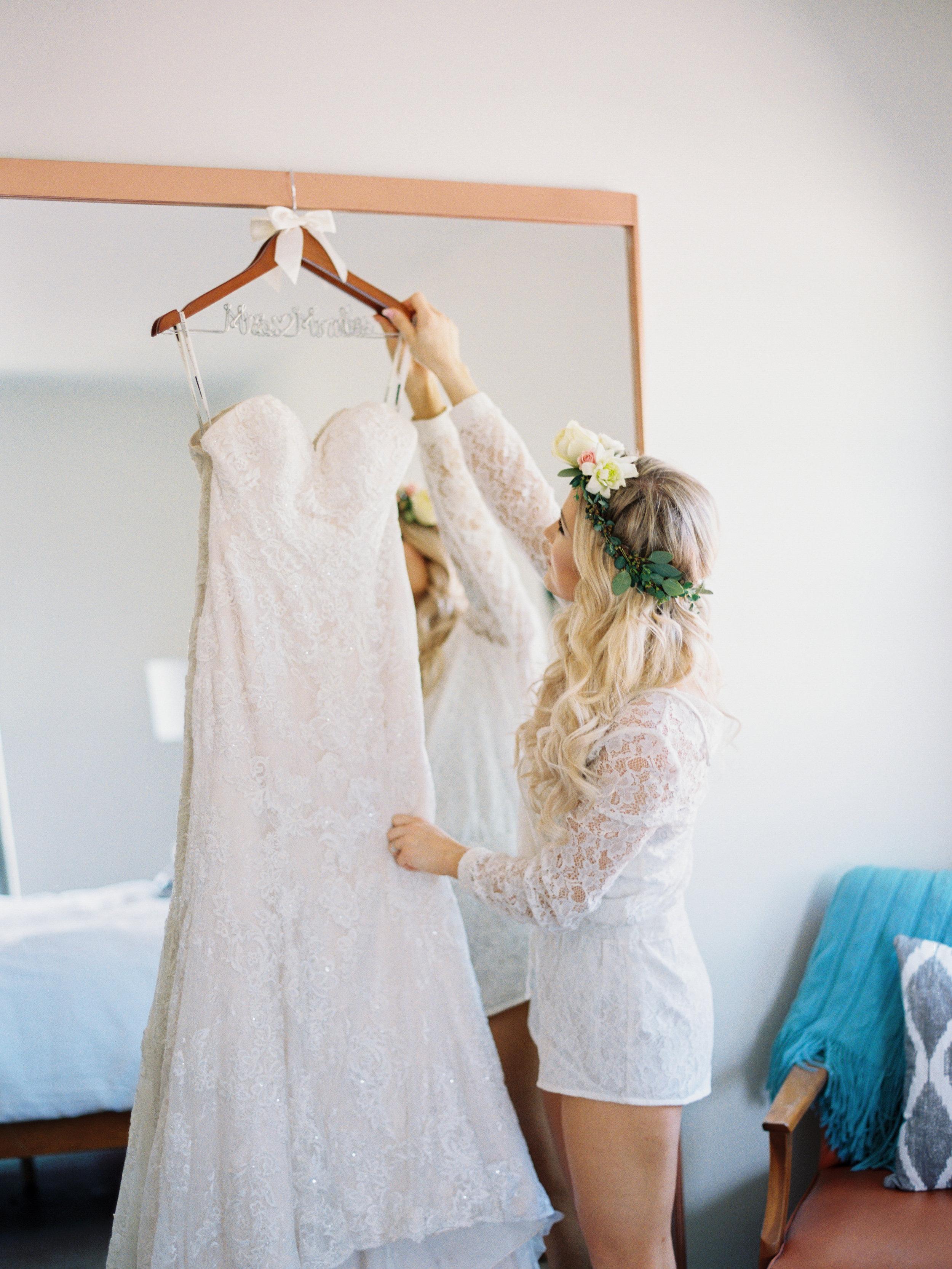 """Custom """"Mrs. Morales"""" hanger purchased on Etsy."""