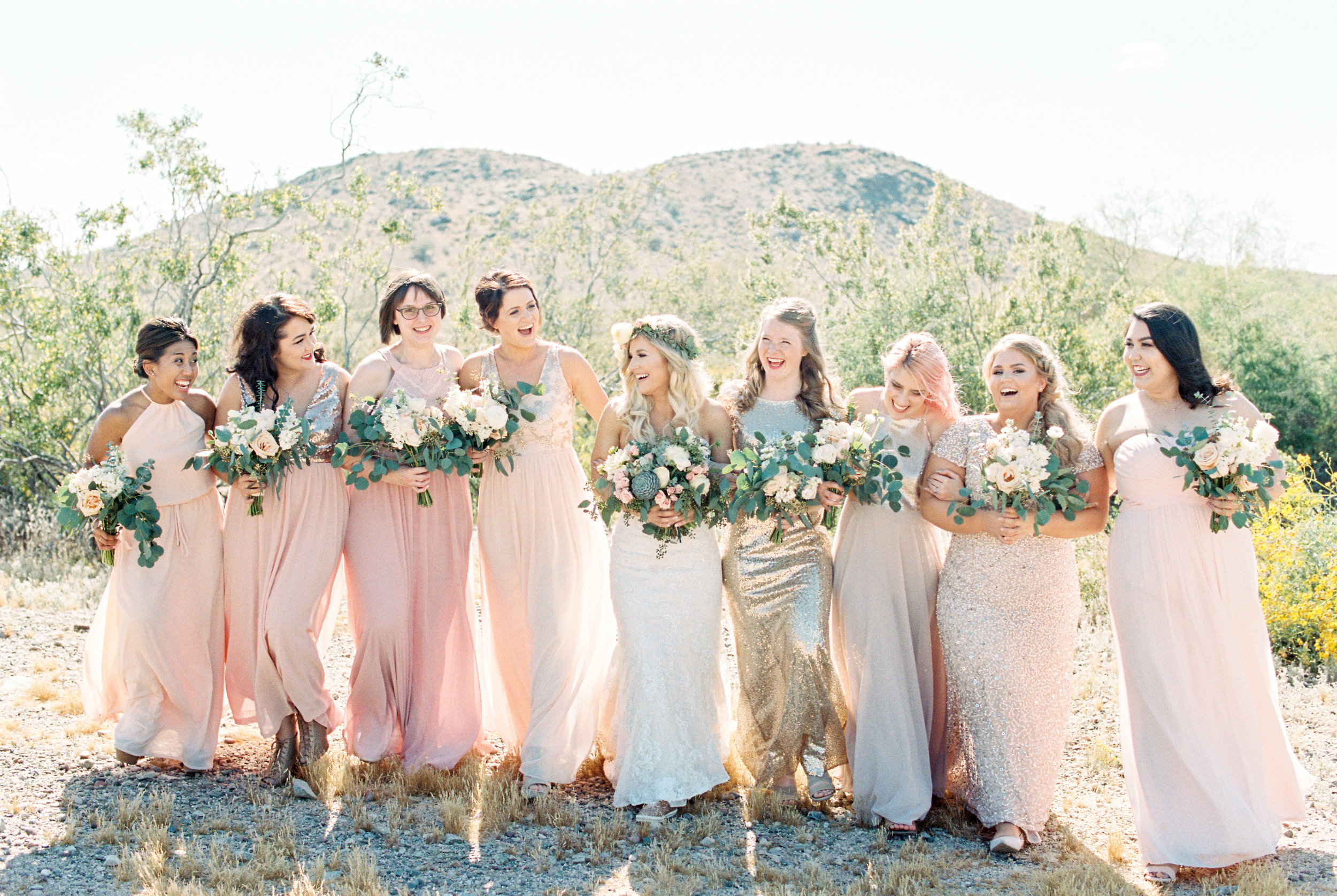 My Bridesmaid's lovely bouquets were designed by Array Design AZ