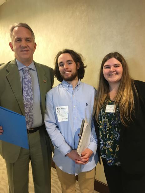 Ohio House District 95 Representative Andy Thompson with Alex Desmond, MT-BC, and Allyson Clifton, MT-BC