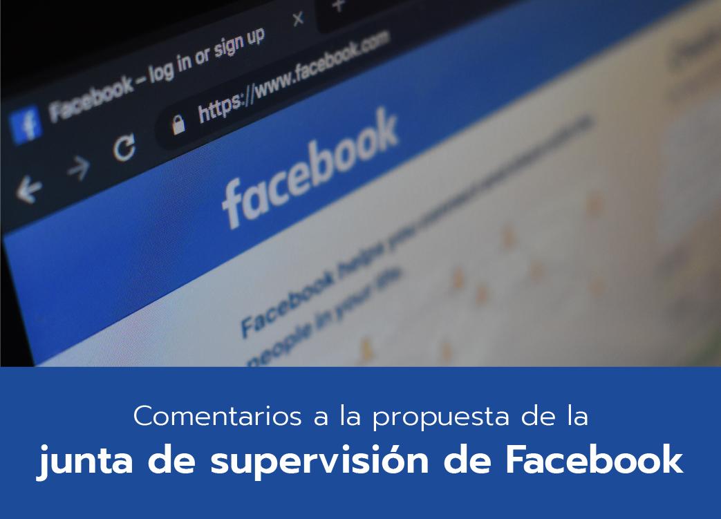 Comentarios a la propuesta de Facebook