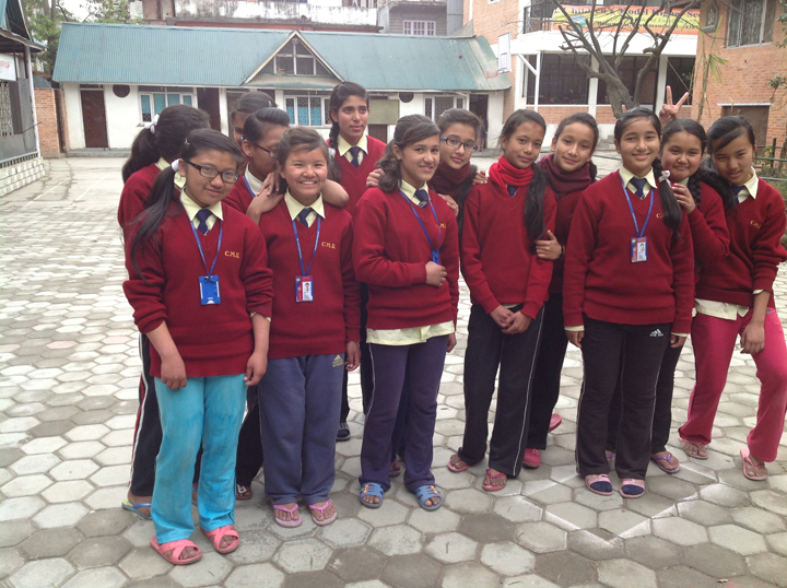 Some of our older boarding school girls meeting to catch up with Christine.