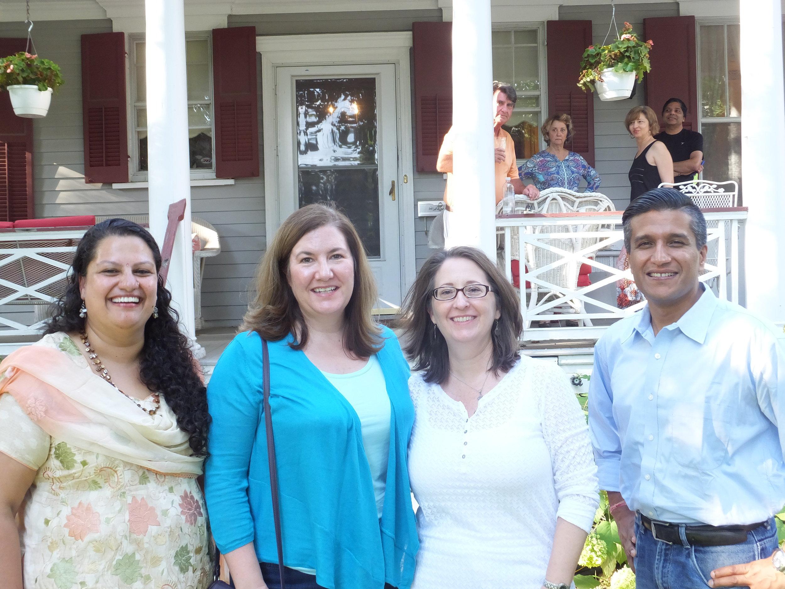 Leena, Director in Nepal, and Yogesh, NGO board president, meet with sponsors in Saint Louis Missouri.