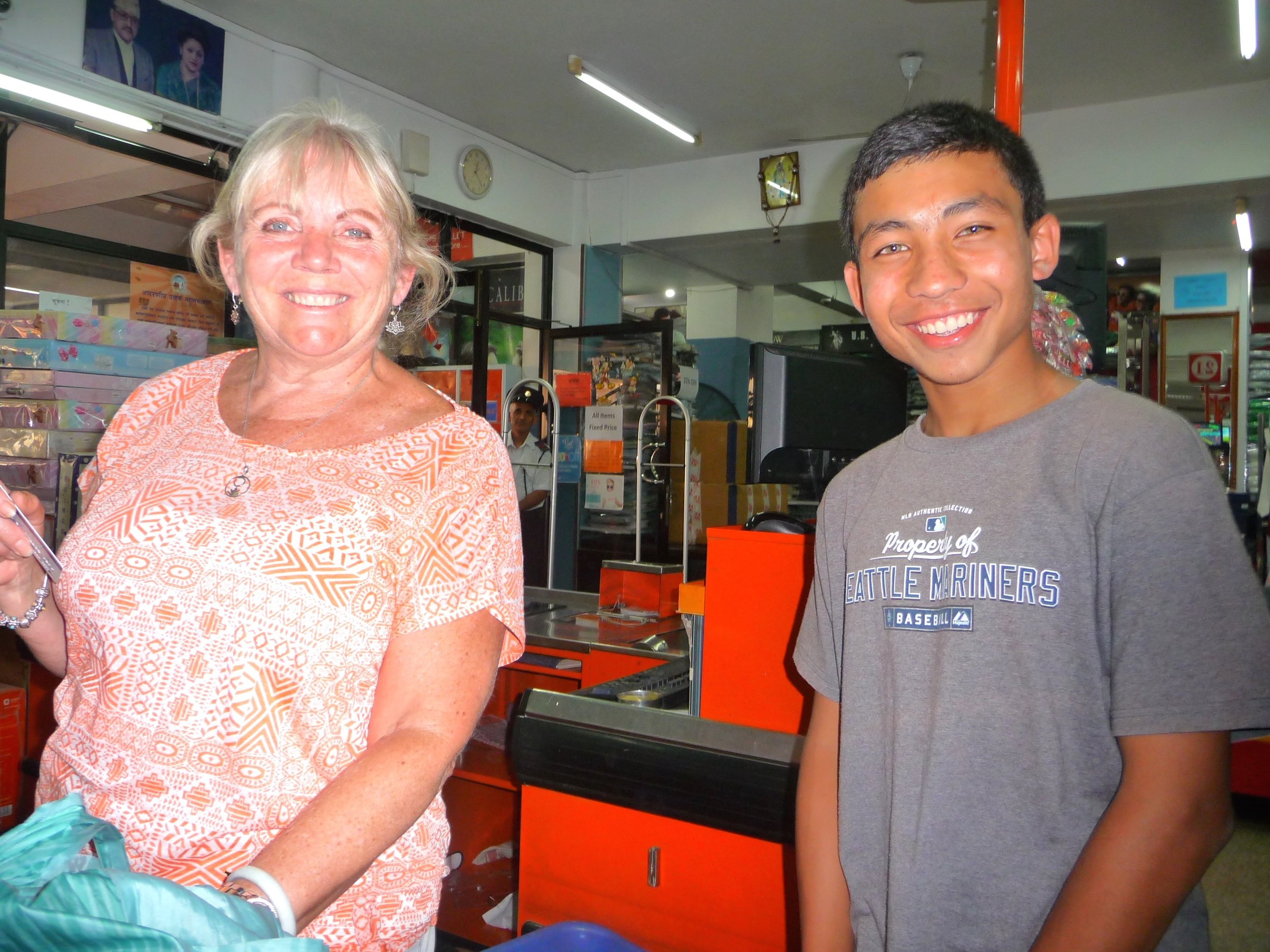 Sponsor Reva with her sponsored child Bibek in a shop til they drop!