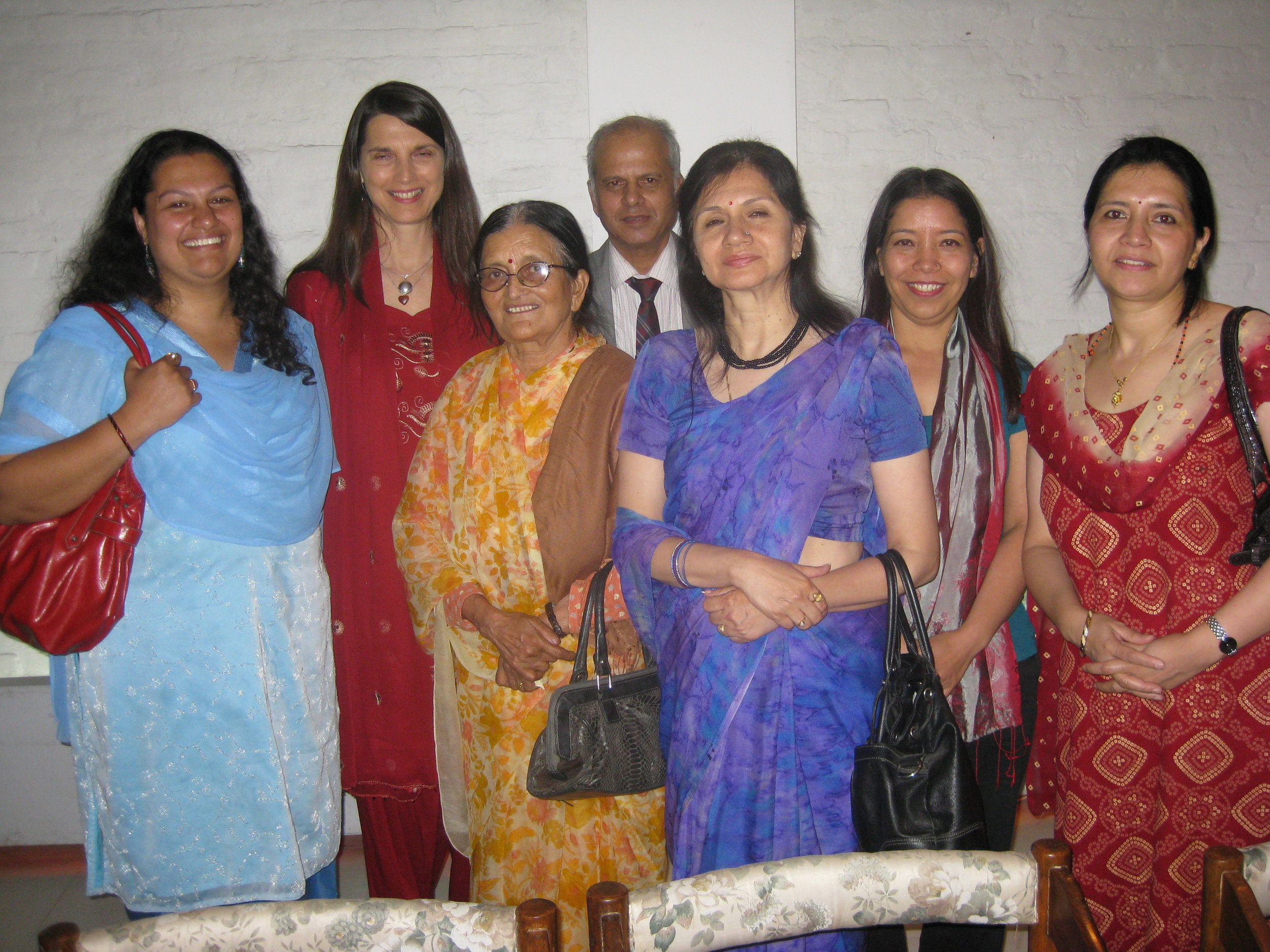 Christine with BSF board members and the late Mrs Satyal (3rd from left) who is sorely missed.