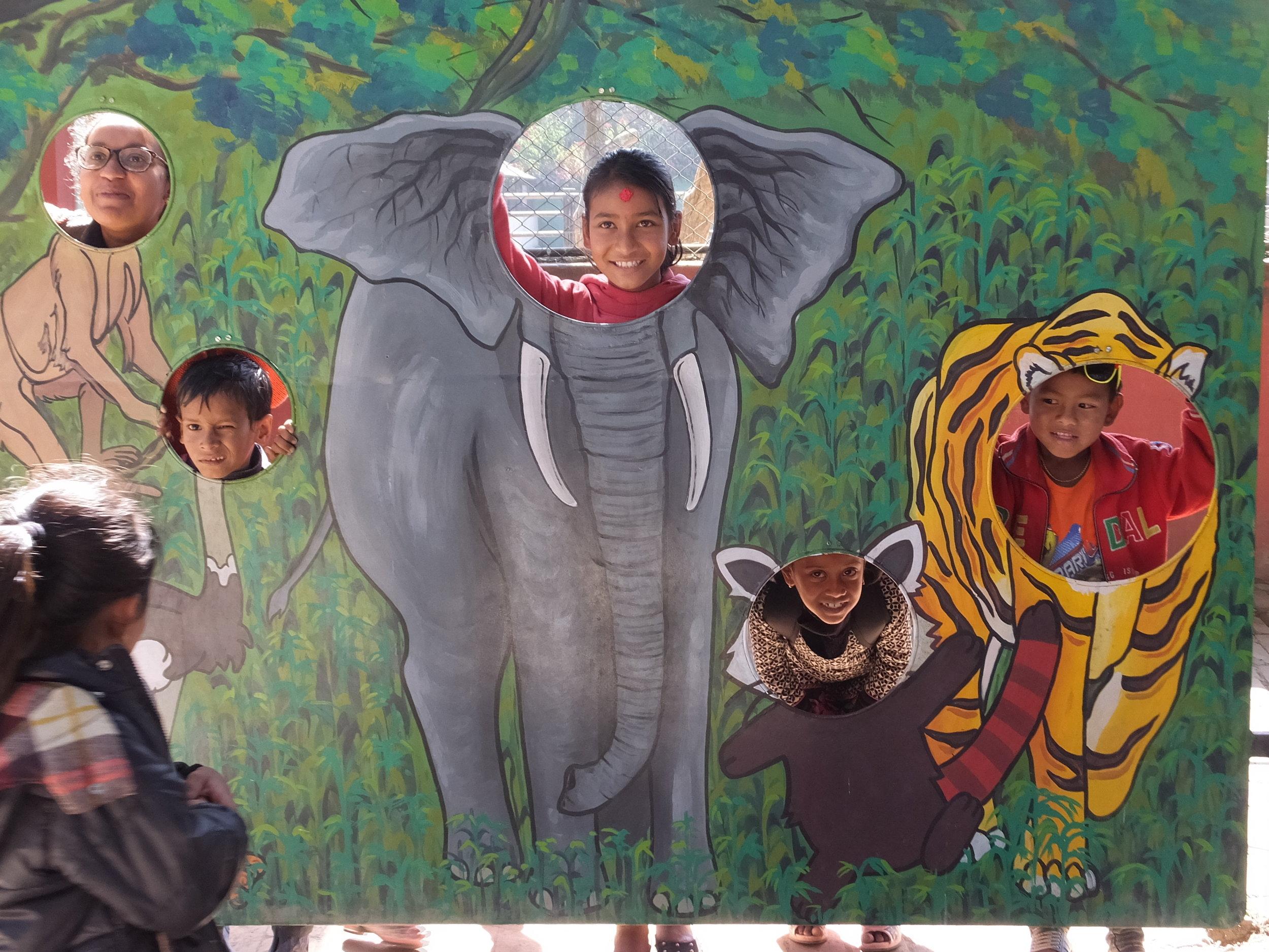 Having fun on a field trip to the Kathmandu Zoo!