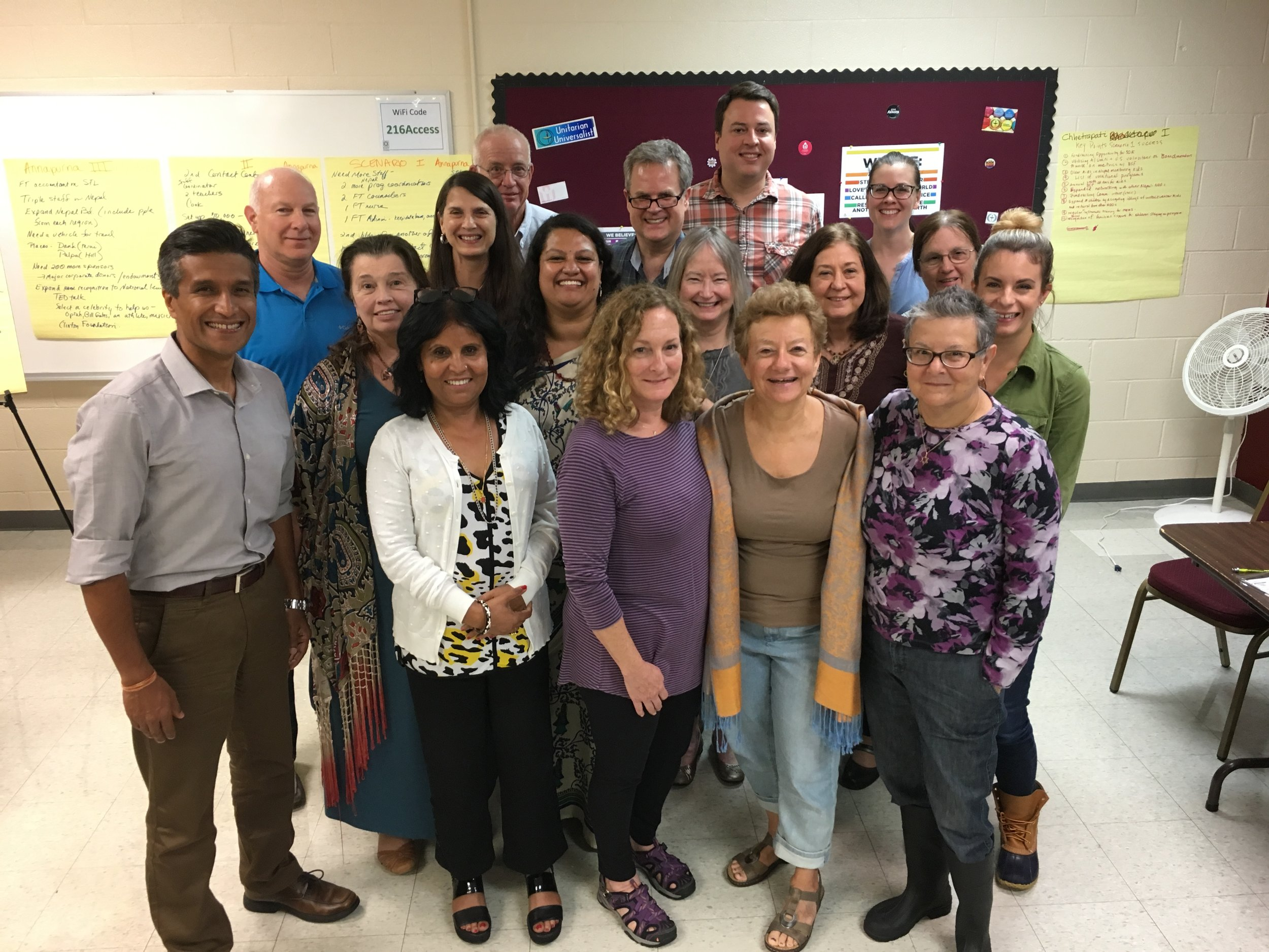 Mitrata Nepal Foundation for Children Board of Directors with Leena and Yogesh at Strategic Planning in St. Louis, MO
