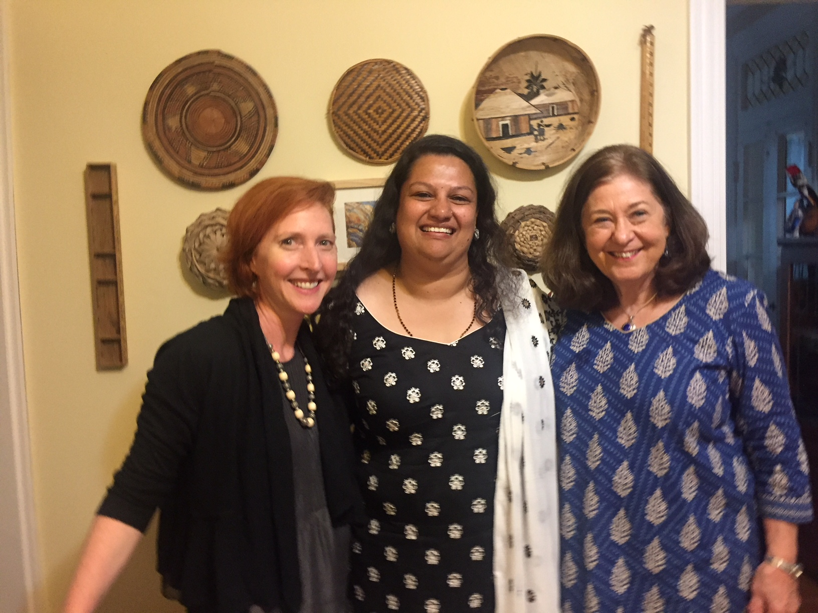 Filmaker and child sponsor Amy Benson with Leena and Nancy in St. Louis, MO