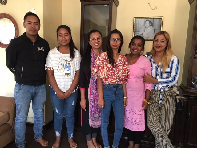 Handsome and beautiful Mitrata kids and program graduates Pradip, Pratima, Laxmi, Sangeeta, Ishwori and Mamta