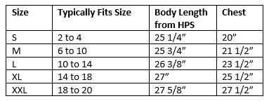 zosia active wear relaxed tee size chart