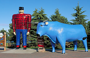 Paul and Babe in Bemidji, Minnesota