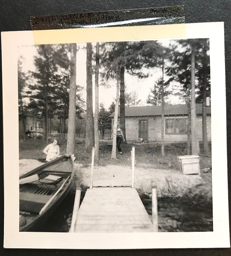 The original wooden dock from the 1950s.