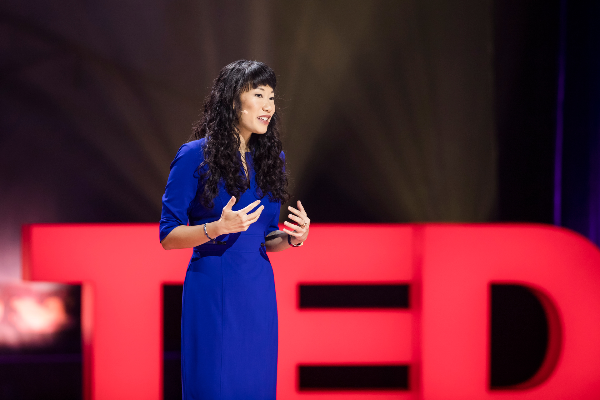 Stephanie Speirs (  Solstice  ) speaks at TEDWomen 2017 — Bridges, November 1-3, 2017, Orpheum Theatre, New Orleans, Louisiana. Photo: Stacie McChesney / TED