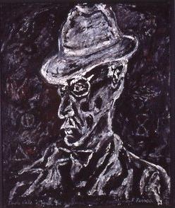 """Fernando Pessoa 36 x 30"""" Bas-relief / Canvas"""