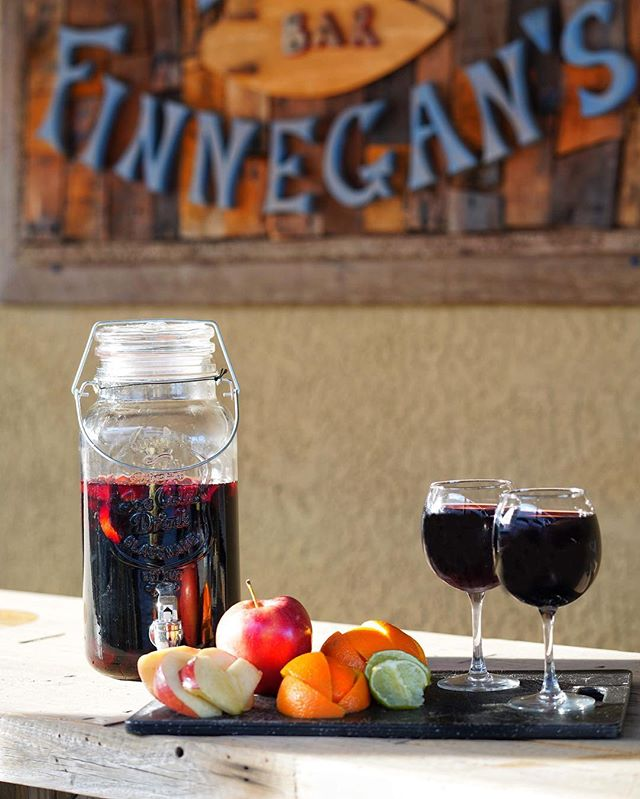 Have you tried our infamous homemade sangria?! It's the perfect day to enjoy our patio and the ocean breeze with a glass, or two! 🍷😋🍊🌊 ..and today we have buy one glass, get one glass from 4pm to close!