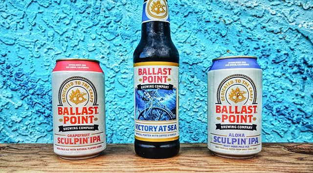 It's officially the weekend! 🥳🍻🏄🏼‍♂️ Have you tried @ballastpointbrewing's Aloha ipa?!? A citrus twist at 7%! Our doors open at 4 and we'll be serving ice cold ones all night long! 🍻Cheers! 🍻