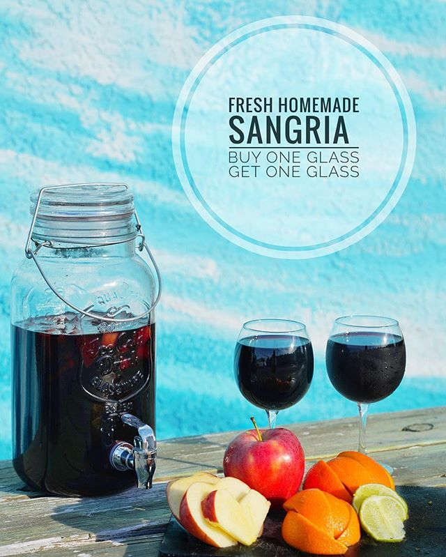 Sip sip hooray! It's sangria Monday! 🍎🍷🍊We have buy one glass, get one glass all day long! We open at 4pm today, see you soon! 😊