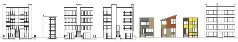 New construction, green, net-zero, urban homes in Chicago.