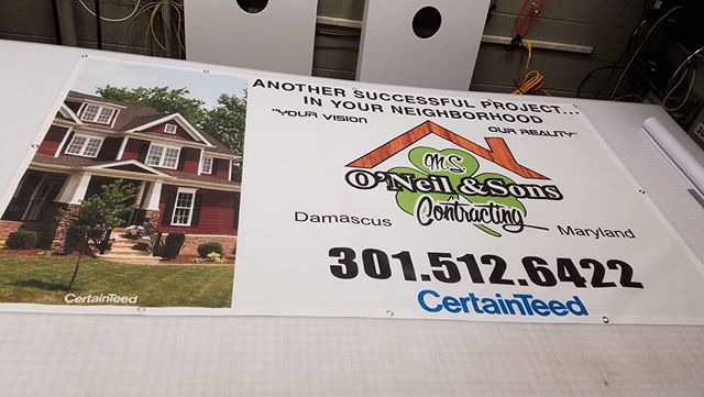 If you're worried about displaying banners in high wind areas use mesh banner to decrease wind resistance. 4x7 mesh banner #signs #meshbanner #meshbannerprints #meshbanners #marylandsigns #damascussigns #damascusmd