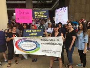 DVAC group pose for a quick pic before starting the march!