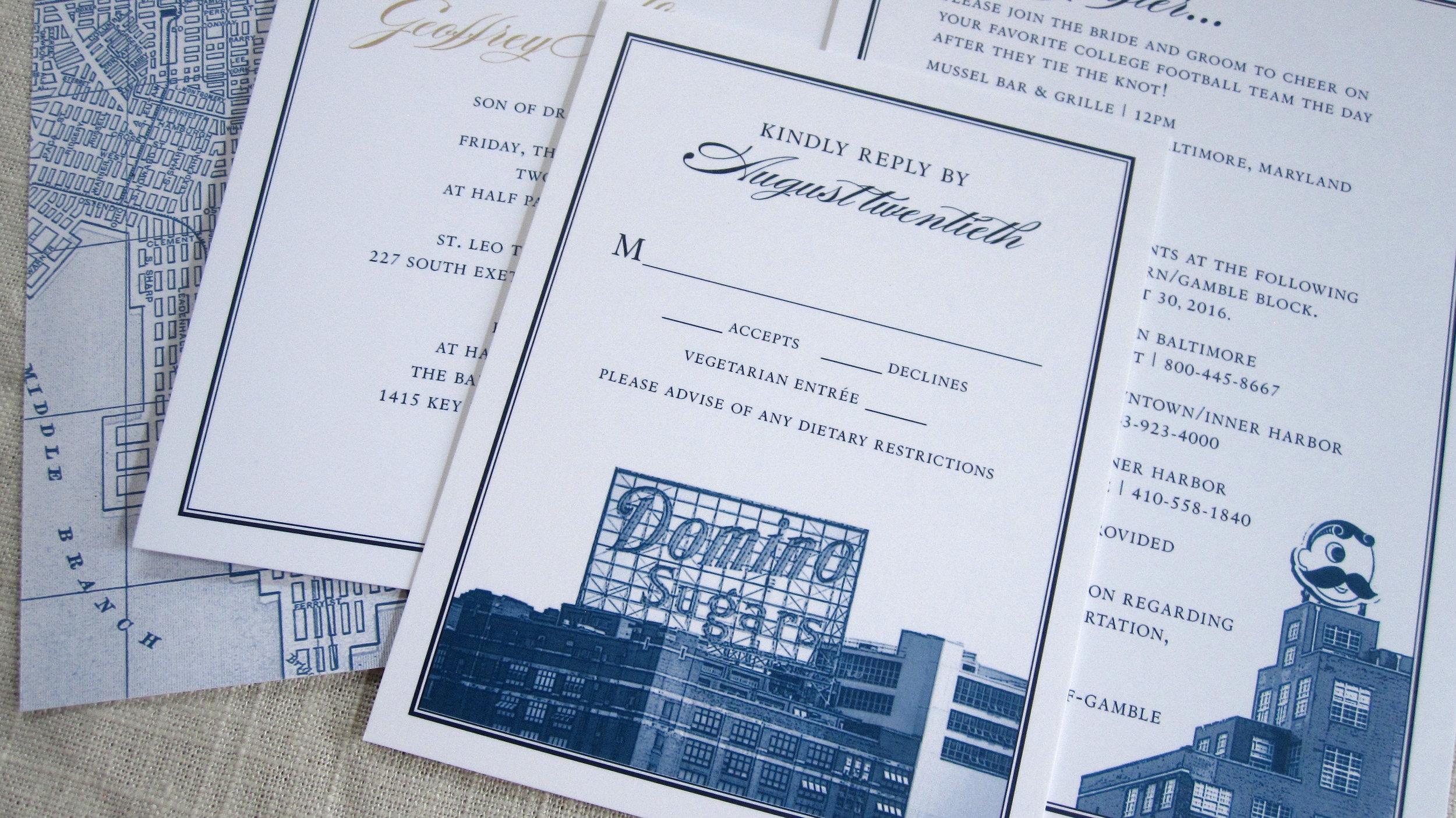 baltimore wedding invitations