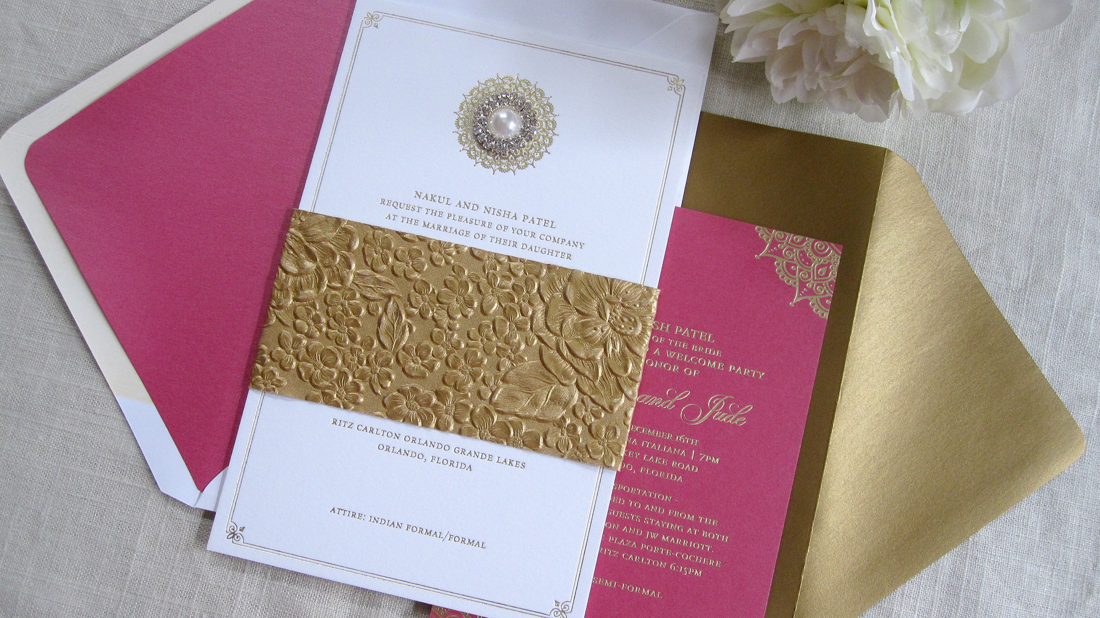 Baltimore Indian Wedding Invitation