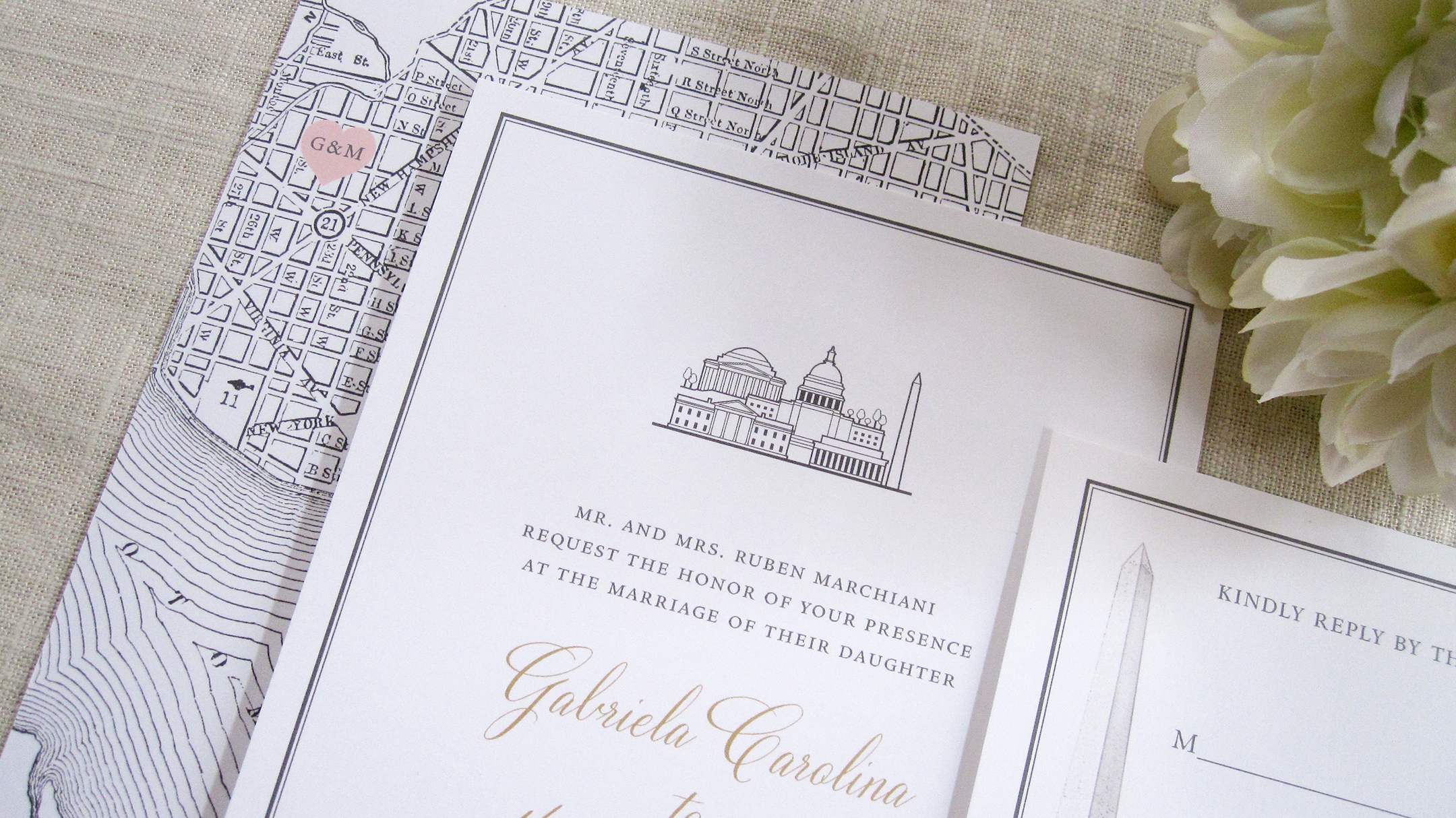 DC wedding invitations