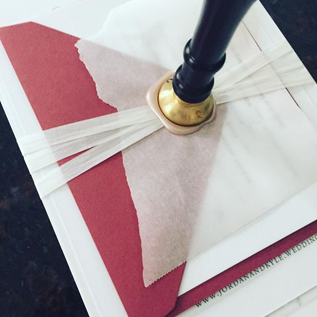 Can't reveal just yet. 😍😍 . . . #justinkonpaperinvitations #letterpressinvitations #letterpress #weddinginvites #weddinginvitation #custominvites #waxsealstamp #waxseal #easternshoremd #easternshorewedding #octoberwedding #mdwedding #kirklandmanor