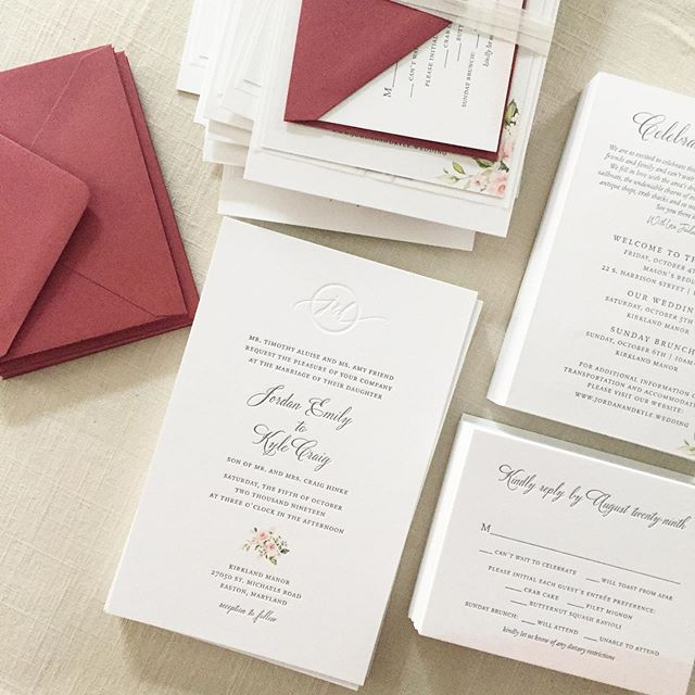 When they look amazing even before you start assembly. Each piece is perfect on its own, but stay tuned for a shot of the final assembly. . . . #letterpress #letterpressinvitations #watercolor #watercolorinvitation #grayweddinginvitation #mdwedding #easternshorewedding #stmichaels #kirklandmanor