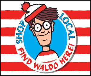 This July, 250 independent bookstores will participate in the  annual  Find Waldo Local  event.  The month-long shop local campaign, which is co-sponsored by Candlewick Press and the American Booksellers Association, draws customers to small businesses in communities around the country on scavenger hunts to find Waldo, the ever-popular, red-and-white-striped picture book character.