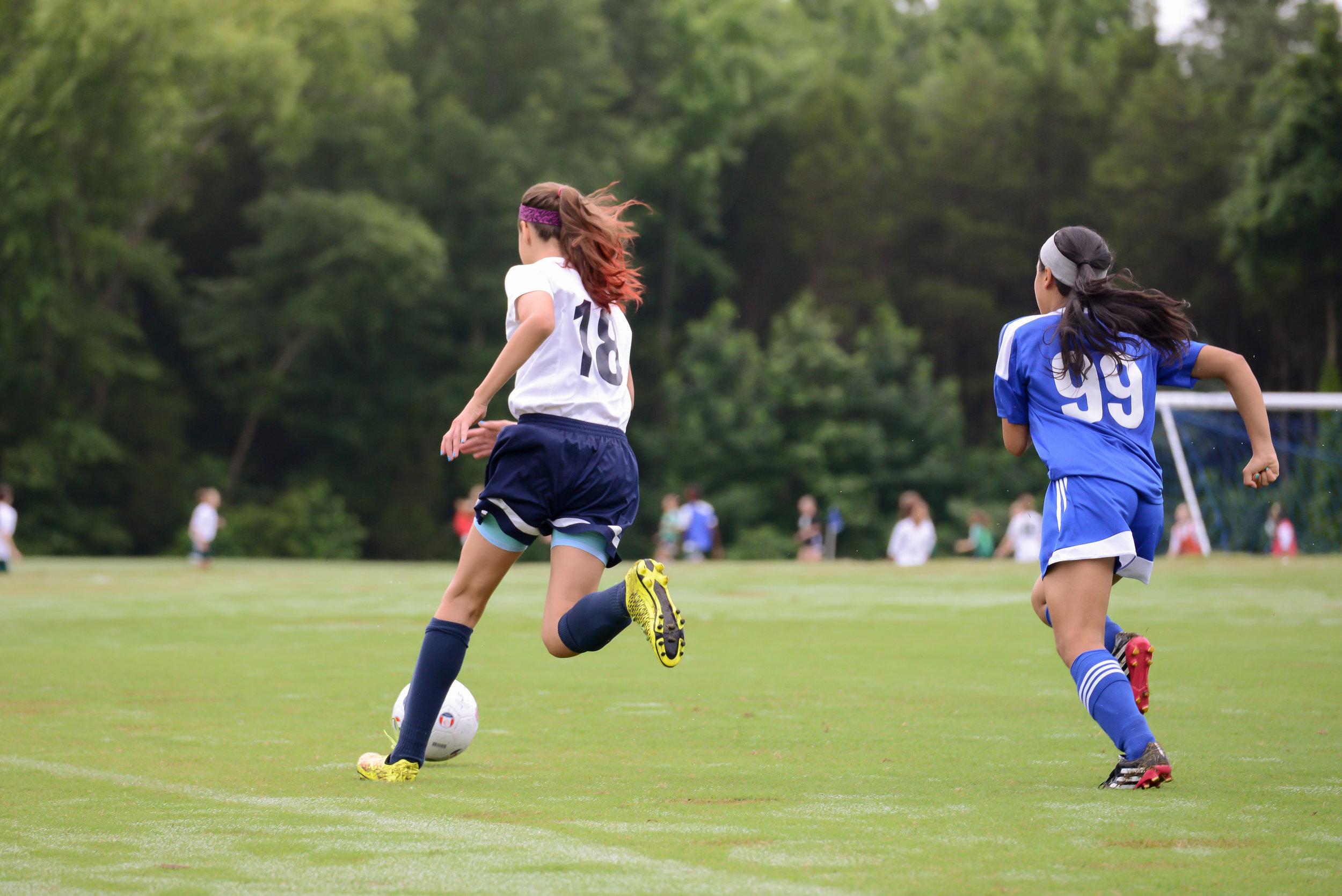 Sprinting towards the goal