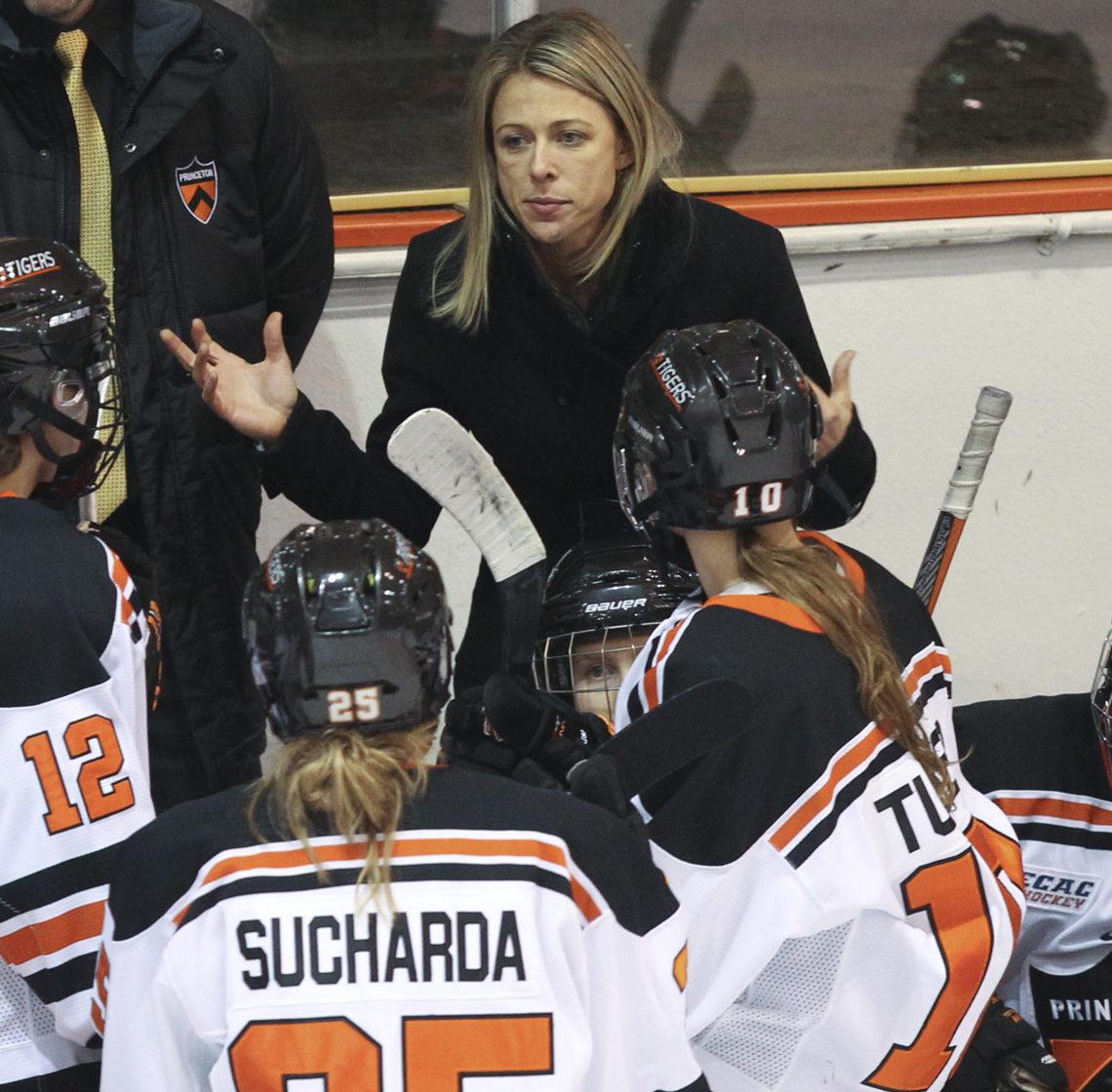 Princeton University vs. Yale women's hockey, Princeton, NJ, January 2, 2016.
