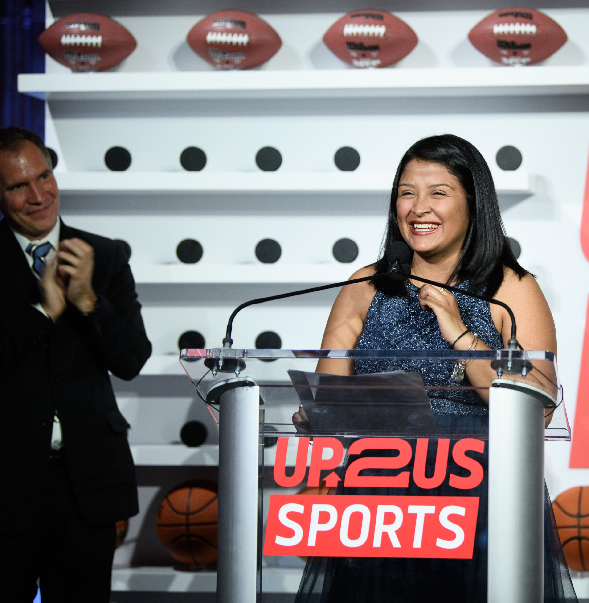 NEW YORK, NY - MAY 15: Award Recipient Coach Delmy Del Cid attends the Up2Us Sports Gala 2017 at Guastavino's on May 15, 2017 in New York City. (Photo by Dave Kotinsky/Getty Images for Up2Us Sports)