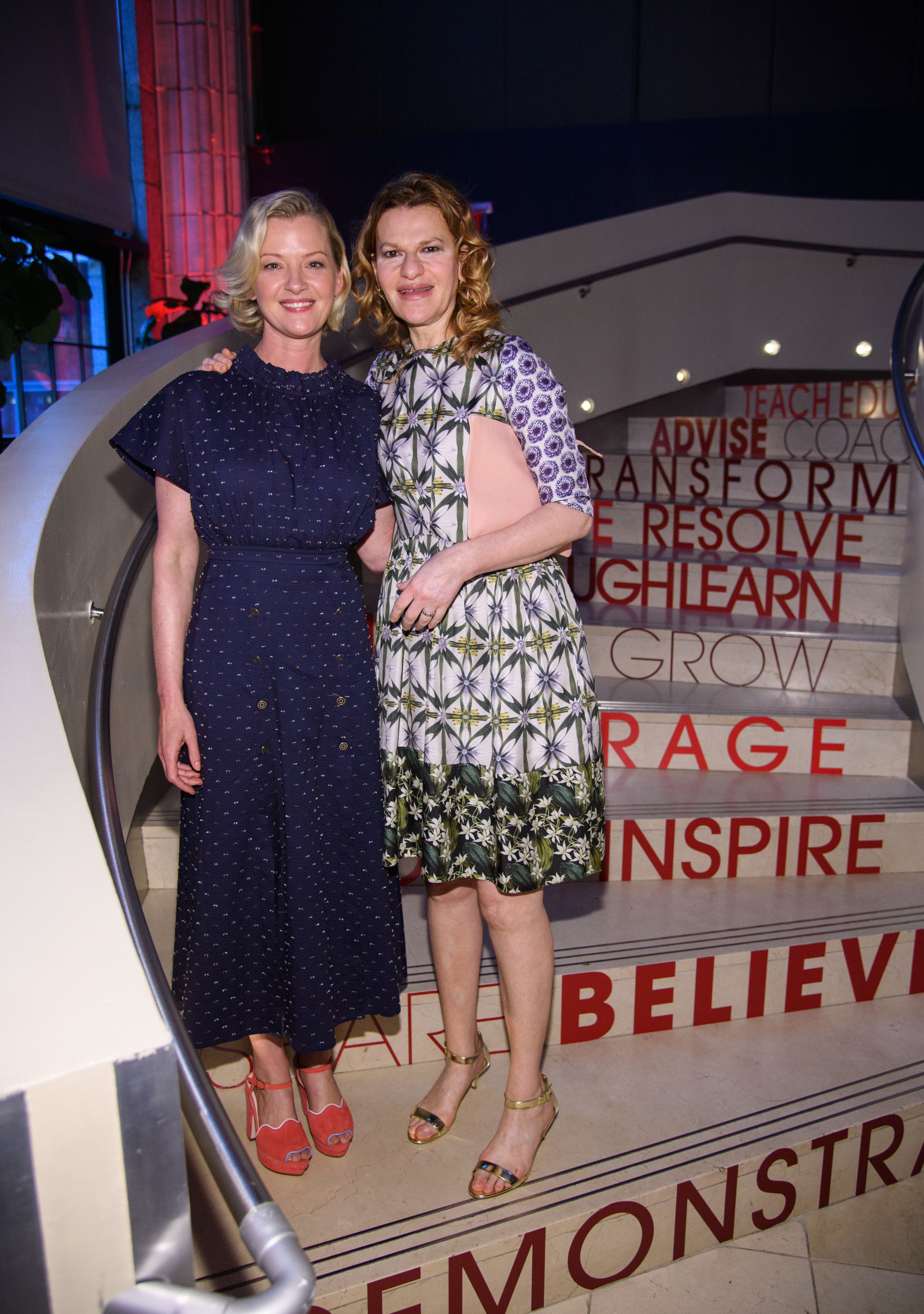 Actress Gretchen Mol and Comedian Sandra Bernhard support Up2Us Sports at the 2017 gala.
