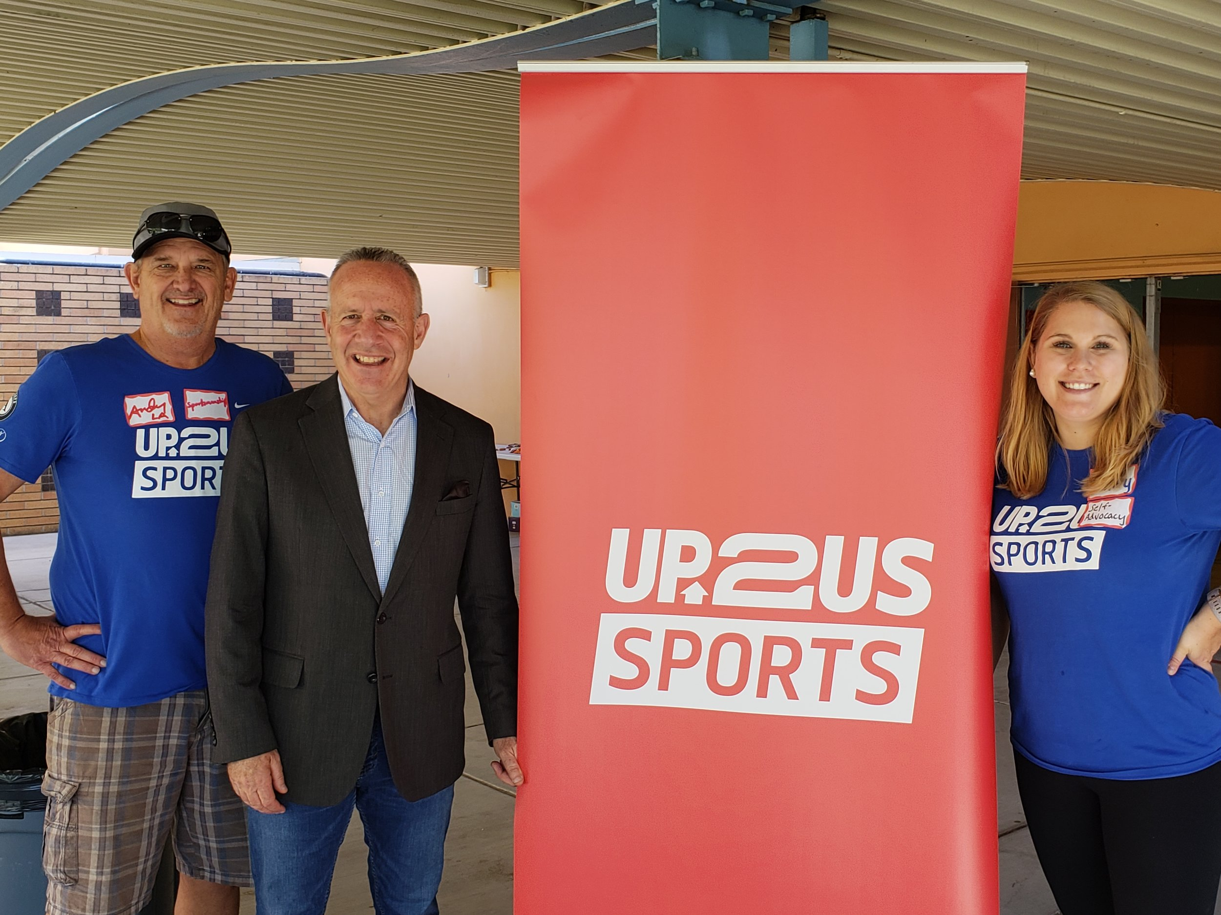 Up2Us Sports Los Angeles City Director Andy Schwich, Sacramento Mayor Darrell Steinberg and Up2Us Sports Sacramento Program Manager Hilary Harvey.