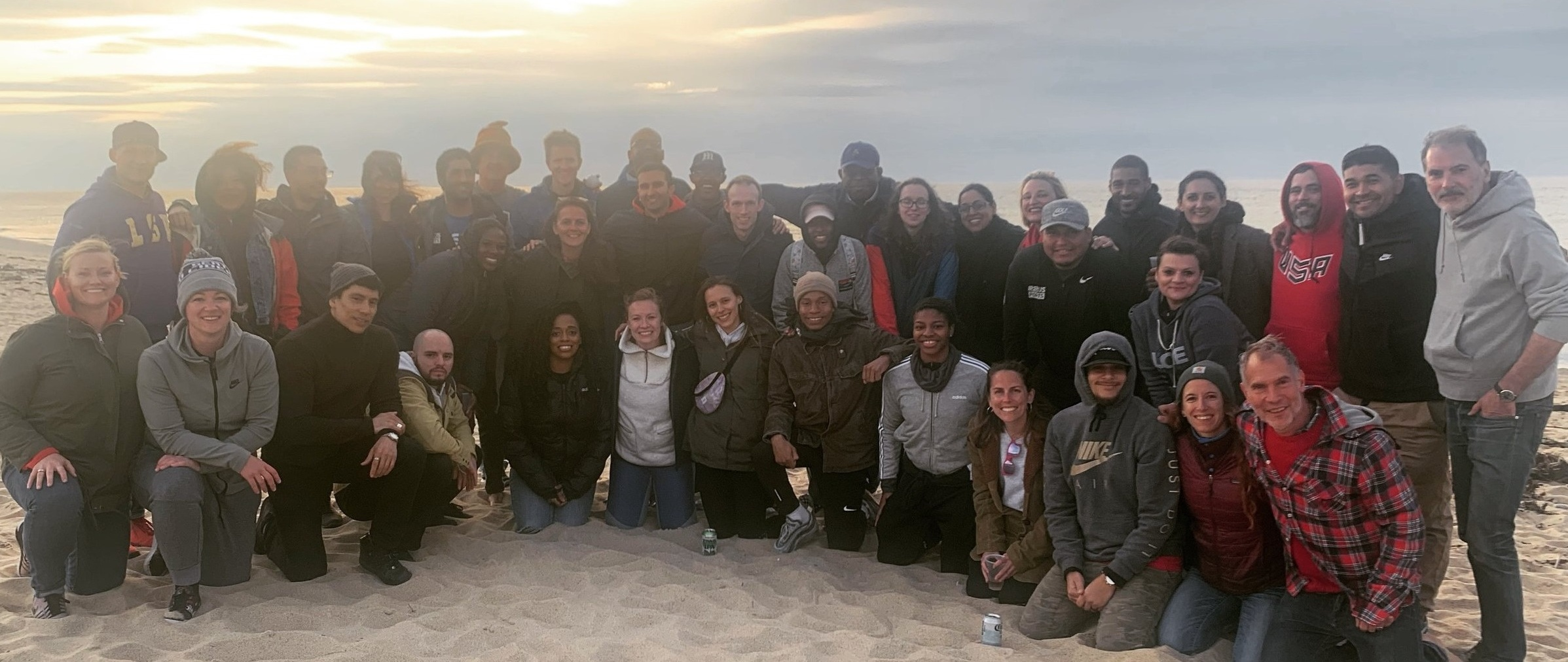 Up2Us Sports staff at the Annual All Staff Retreat in Provincetown, Massachusetts. June, 2019.