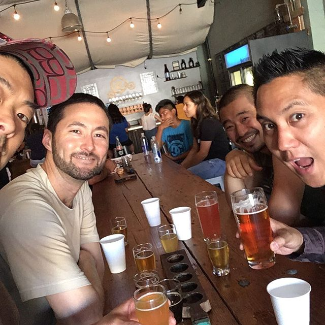 Hard at work for tomorrow's Taiko Festival! See you tomorrow at Christine Emerson Reed Park at 5 pm! #freshhops #beeroclock #taikofestival #yokidaiko