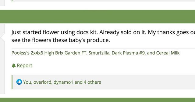 Another first time High Brix Kit user, another success story. Have YOU tried our Kit yet? #docbudshighbrixblend #growyourown #nutrientdense #topshelf #livingsoil #cannaseur grade #cannabis with our #mineralsmicrobesandmagic #highbrix #docbudshighbrix #420magazine #growjournals