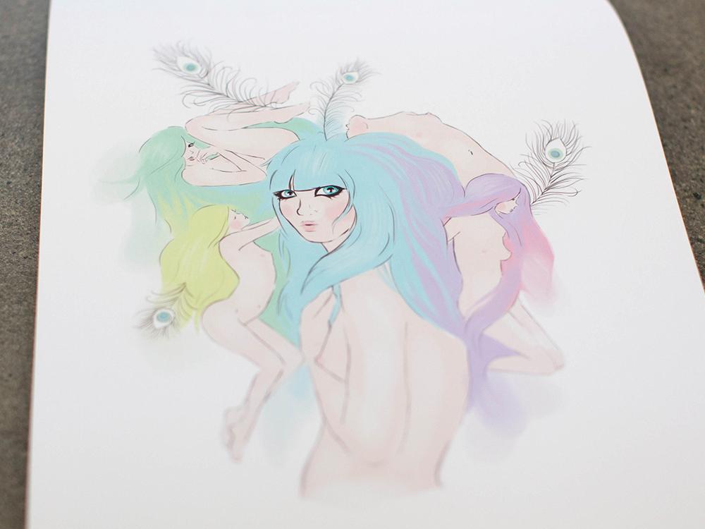 Bed Head Kat Merewether 2013 Print Series Illustration Art