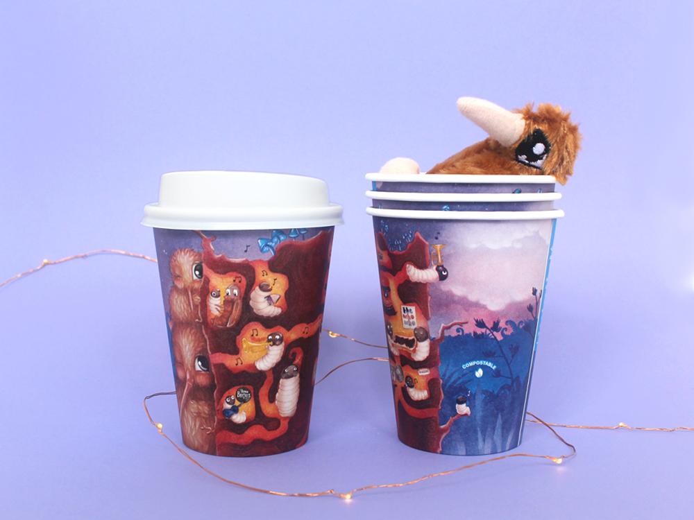 Kuwi the Kiwi, Coffee Cup