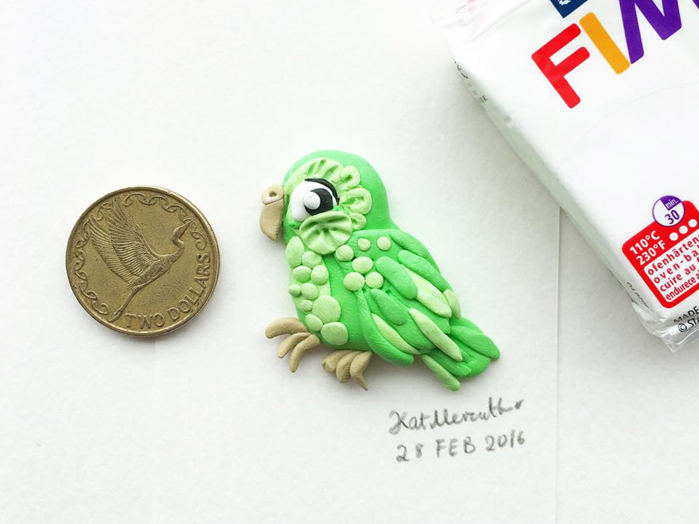 2016 Daily Tiny Drawing Challenge Kat Merewether Illustration Art Clay