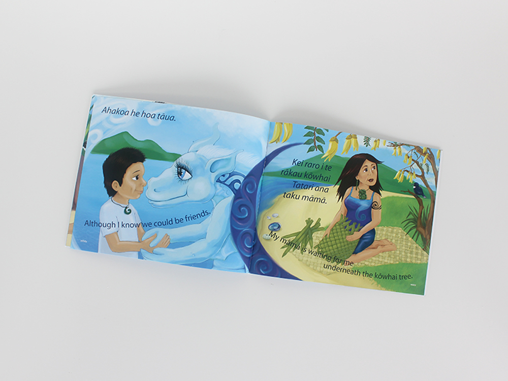 One Day a Taniwha Illustration Books Kat Merewether Aunty Bea