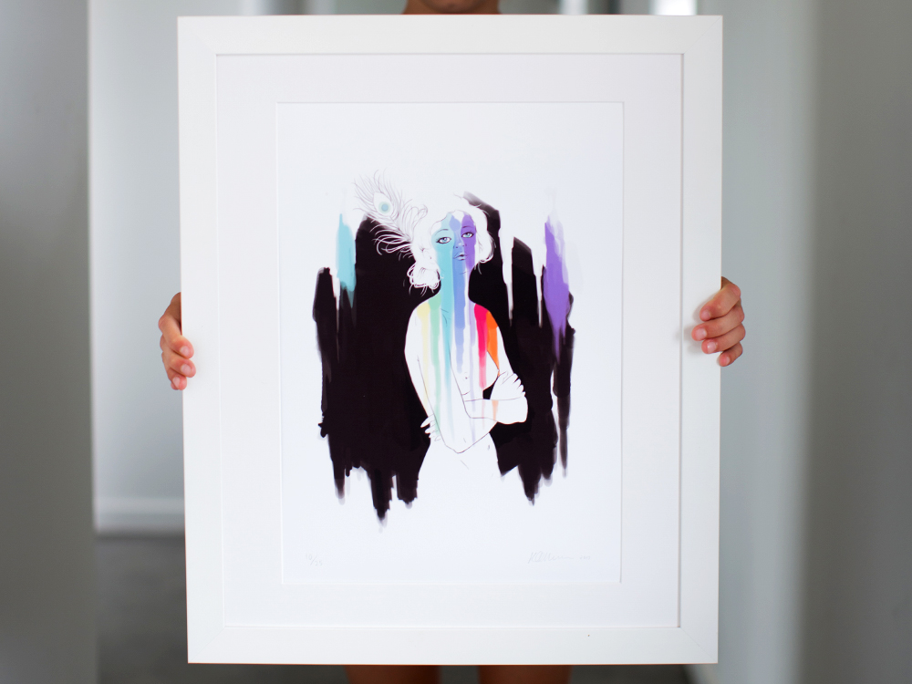 I Am Art Kat Merewether 2013 Print Series Illustration Art