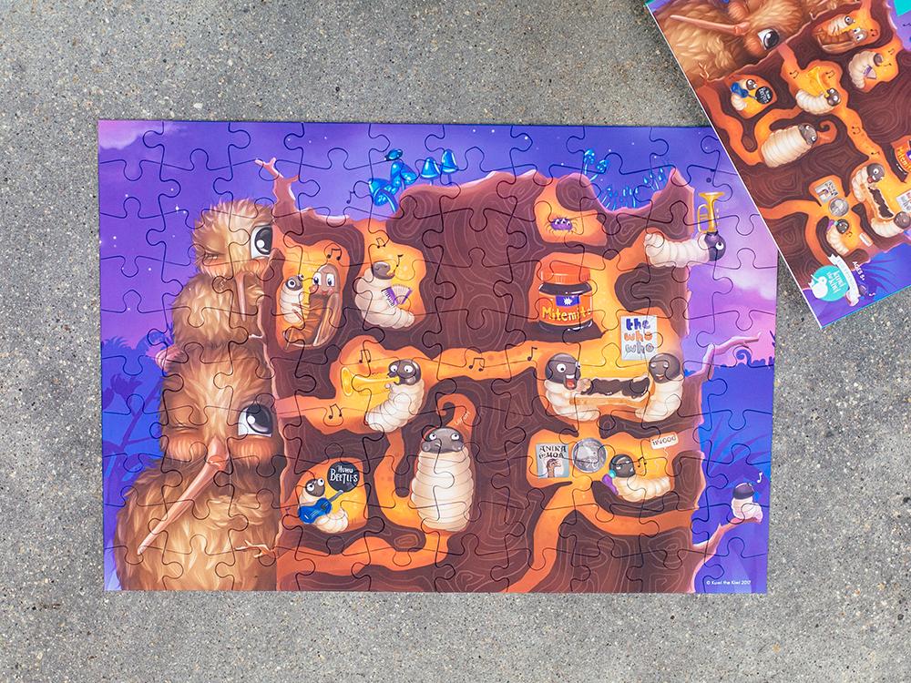 Kuwi the Kiwi Floor Puzzles Design Product