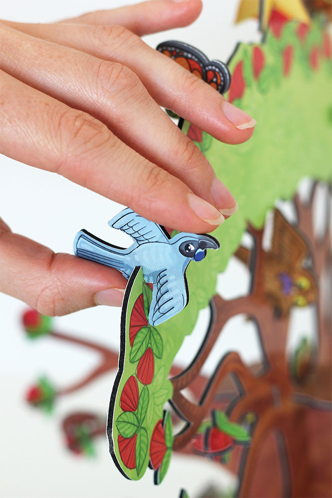 Kuwi the Kiwi Christmas 3D Advent Calendar Puzzle Design Product